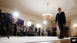 Beyaz Saray'da geç saatte açıklama yapmaya hazırlanan Başkan Obama