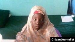 Nữ sinh Amina Ali Nkeki, 19 tuổi, được giải cứu trong khu rừng ở bang Borno.
