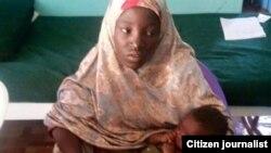 Amina Ali, qui avait 17 ans lors de son enlèvement, est la première rescapée de Chibok. Elle a été secourue dans la forêt de Sambisa.