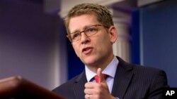 « Nous ne reconnaissons pas les résultats » du pseudo-référendum, a déclaré Jay Carney