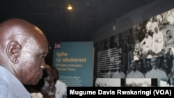 South Sudanese tribal elders visit the Genocide Memorial in Kigali.