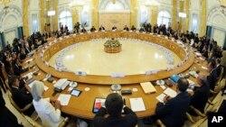在圣彼得堡召开的20国集团峰会,其中11国领导人和代表就叙利亚问题发表联合声明。