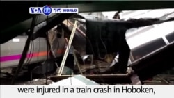 VOA60 World PM - 1 Dead, 108 Injured in New Jersey Commuter Train Crash