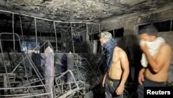 Soba u kojoj su se liječili pacijenti od Covida potpuno izgorjela.