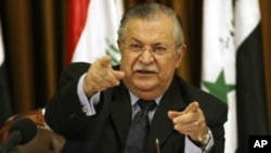 Jalal Talabani, mantan presiden Irak dan pemimpin Kurdi Irak (foto: dok).