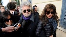 Diễn viên hài trở thành chính trị gia Beppe Grillo, 25/2/2013.