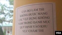 Một hình ảnh tại cuộc thi THPT ở Sơn La. (Hình: Báo Lao Động)