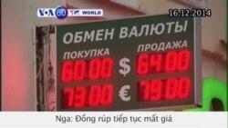 Đồng rúp của Nga tiếp tục mất giá (VOA60)