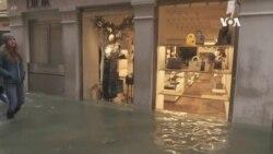 意大利威尼斯洪水聖馬耳谷廣場被迫關閉