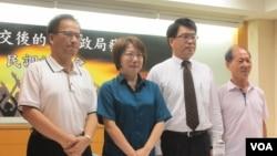 台灣民意基金會發布最新民調記者會(美國之音張永泰拍攝)