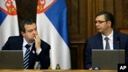 Predsednik i potpredsednik Vlada Srbije Ivica Dačić i Aleksandar Vučić (arhivski snimak)