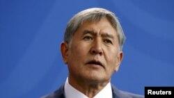 FILE - Kyrgyzstan's President Almazbek Atambayev.