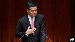 Kepala eksekutif Hong Kong Leung Chun-ying menegaskan bahwa dia tidak akan mundur (foto: dok).