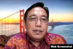 Komisioner KPU RI, I Dewa Kade Wiarsa Raka Sandi. (foto: screenshot)