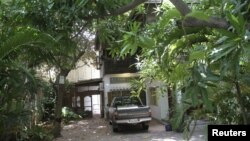 A general view of the home of French architect Patrick Henri Devillers is pictured in Phnom Penh, June 21, 2012.
