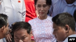 缅甸全国民主联盟领袖昂山素季。