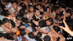 В давке во время фестиваля в столице Камбоджи городе Пномпень погибли люди (архивное фото)
