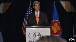 Secretary of State John Kerry talks at a Gala for 30th Anniversary of the US-ASEAN Business Council, October 02 2014.