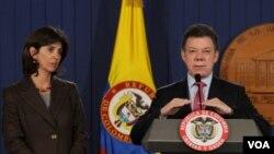 Desde Medellín, Santos respaldó la labor diplomática que realiza su canciller María Ángela Holguín.
