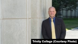 Angel Perez, vice president of enrollment and student success at Trinity College.