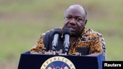 Le président sortant du Gabon, Ali Bongo, 30 avril 2016.