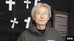 来自犹他州的牧师李恩相(美国之音 杨晨拍摄)