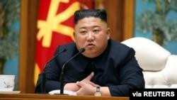 Lider Sjeverne Koreje Kim Jong Un, Foto: Central News Agency (KCNA) April 11, 2020. KCNA/via REUTERS