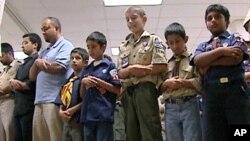 穆斯林童子军在集会中领诵效忠国家誓约