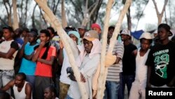 Des demandeurs d'asile africains