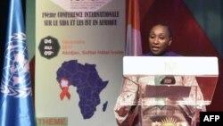 La ministre de la santé ivoirienne Raymonde Goudou Coffie à Abidjan, le 9 décembre 2017.