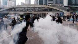 粵語新聞 晚上10-11點: 香港警方在民主示威兩週年紀念日逮捕至少三名抗議者