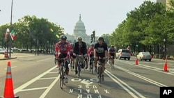 Bike lanes opened recently on Pennsylvania Avenue, the wide boulevard that runs from the White House to the US Capitol.