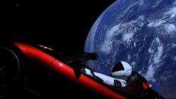 SpaceX成功發射重型火箭將特斯拉跑車送入太空