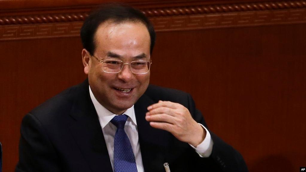 孫政才2017年3月在北京開會幾個月後落馬(美聯社)