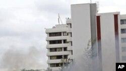 Une image de l'attaque du 16 juin contre le QG de la police nigériane à Abuja