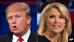 Rurambikanye hagati y'umuherwe Donald Trump n'umunyamakuru Megyn Kelly wa Fox News