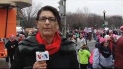 تظاهرات فعالان حقوق زنان در واشنگتن، یک روز پس از آغاز ریاست جمهوری ترامپ