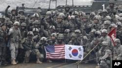 Американські та південнокорейські солдати під час спільних навчань