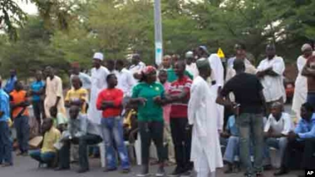 After casting their ballots earlier this month, voters in Abuja await the results. Election officials have asked voters to await the results at the stations to help ensure there's no tampering. The presidential vote is set for Saturday, April 16.