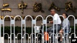 天津第二中级人民法院门前