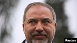 ຫົວໜ້າພັກ Yisrael Beitenu ຂອງ ອິສຣາແອລ ທ່ານ Avigdor Lieberman, 23 ກຸມພາ, 2015.