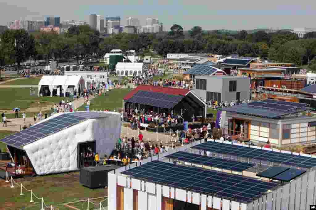 2011年國際大學生太陽能房屋設計10項全能競賽9月23日至10月2日在美國首都華盛頓國家公園大草坪舉行