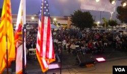 上千人參加珍妮特·阮的催票晚會(美國之音國符拍攝)