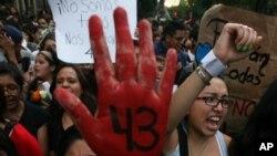 Las protestas y la indignación del pueblo mexicano no se hicieron esperar tras la desaparición de los estudiantes.