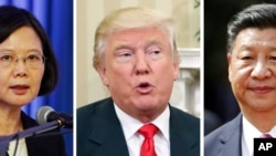 Tayvan rahbari Tsai Ing-ven, Amerika Prezidenti Donald Tramp, Xitoy yetakchisi Si Zinpin