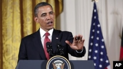 2011年6月7号奥巴马总统在白宫和德国总理默克尔的联合记者会上讲话