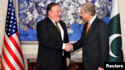 Pompeo with Pakistani counterpart