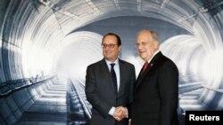 در مراسم افتتاح تونل رهبران اروپایی نیز حضور داشتند.