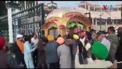 سکھ یاتریوں کا جتھہ پاکستان پہنچ گیا
