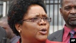 Joice Mujuru, le 6 février 2012 à Harare. (AP Photo/Tsvangirayi Mukwazhi, File)